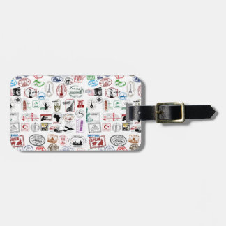 Travel Stamps Pattern Bag Tag