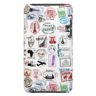 Travel Stamps Pattern Phone Case iPod Touch Cases