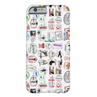 Travel Stamps Pattern Phone Case Barely There iPhone 6 Case