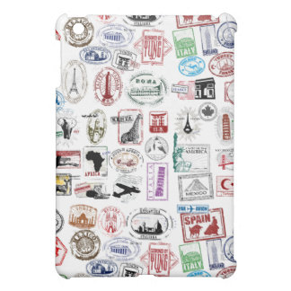 Travel Stamps Pattern Phone Case Case For The iPad Mini