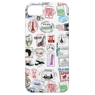 Travel Stamps Pattern Phone Case iPhone 5 Cases