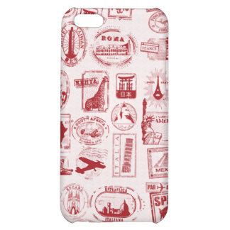 Travel Stamps Pattern Phone Case Cover For iPhone 5C