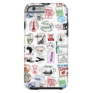 Travel Stamps Pattern Phone Case Tough iPhone 6 Case
