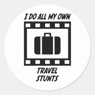 Travel Stunts Round Sticker
