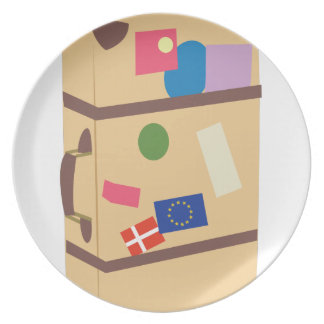 Travel Suitcase Plate