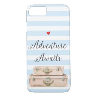Travel Suitcases iPhone 8 Case - Adventure Awaits