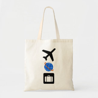 Travel Symbols Tote Bag