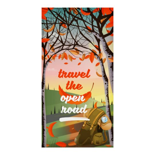 Travel the open road Backpacking Poster