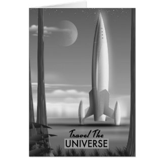 Travel the Universe Mono ( limited edition print) Card