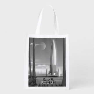 Travel the Universe Mono ( limited edition print) Reusable Grocery Bag