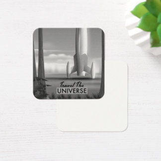 Travel the Universe Mono ( limited edition print) Square Business Card