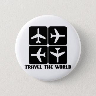 Travel the World 6 Cm Round Badge