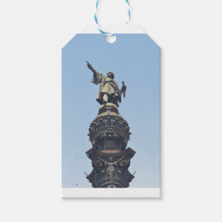 Travel the World - Columbus Pointing out to Sea Gift Tags