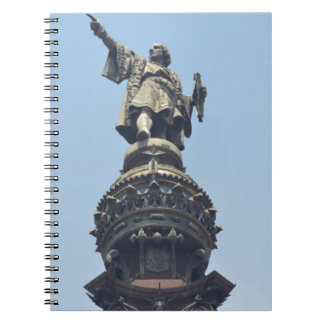 Travel the World - Columbus Pointing out to Sea Notebook