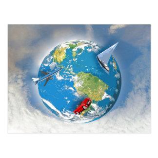 Travel the World Postcard