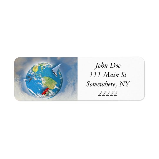 Travel the World Return Address Label