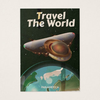 Travel the World Science fiction vintage poster Business Card