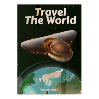 Travel the World Science fiction vintage poster Pack Of Chubby Business Cards