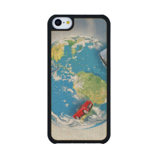 Travel the World Maple iPhone 5C Case