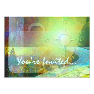 Travel Theme Invitation