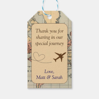 Travel Themed Party Favor Tag- Vintage Wedding