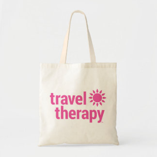 Travel Therapy Tote Bag Pink