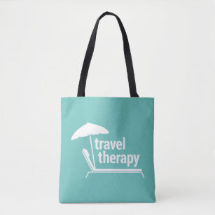 Travel Therapy Tote Bag | Teal Green