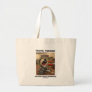 Travel Through An Open Source Wormhole (Duke) Jumbo Tote Bag