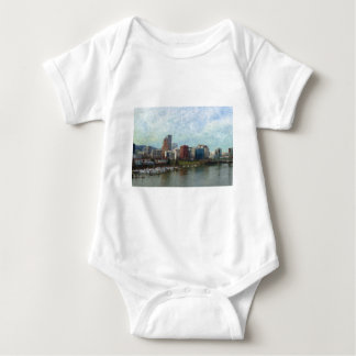 Travel through Portland Baby Bodysuit
