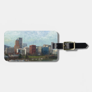 Travel through Portland Luggage Tag