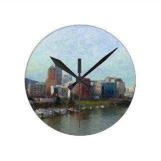 Travel through Portland Round Clock