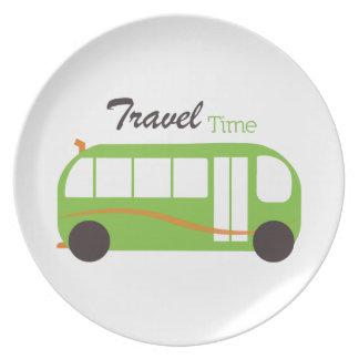 Travel Time Dinner Plates