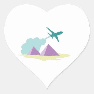 Travel To Egypt Heart Sticker