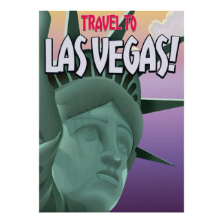 Travel to Las Vegas vacation poster. Poster