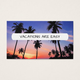 Travel Vacation Holiday Business Card