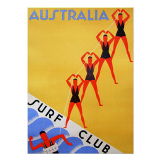 Travel Vintage Australia Poster Posters