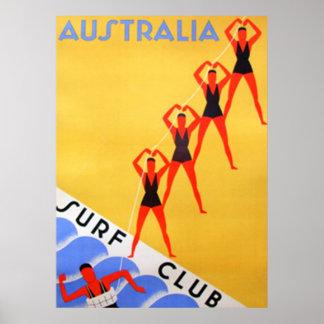 Travel Vintage Australia Poster
