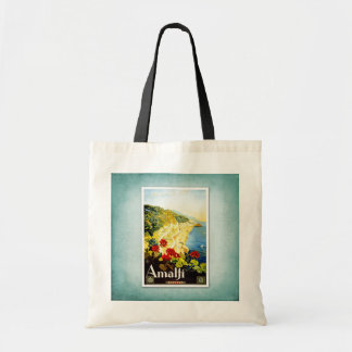 Travel Vintage Poster Amalfi Italy Tote Bag
