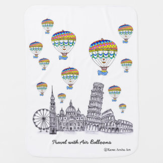 Travel with Air Balloons Pram blanket