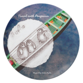 Travel with Penguins - creative home-sweet-home Plate
