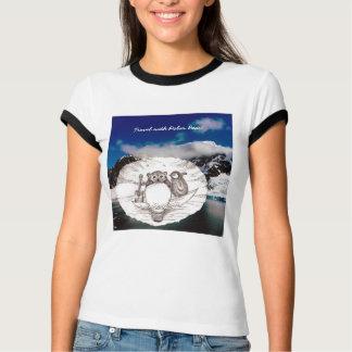 Travel with Sketch Cute Polar Bear Tshirt