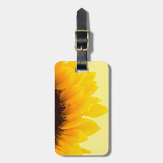 Travel Yellow Sunflower on Yellow Luggage Tag
