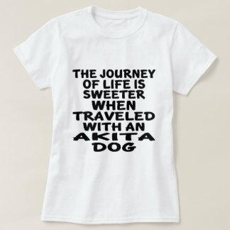 Traveled With A Akita Life Partner T-Shirt