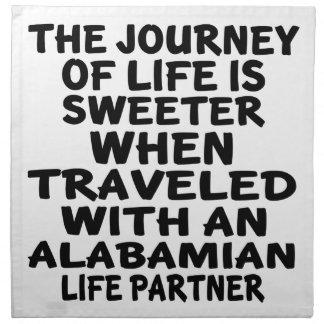 Traveled With A Alabamian Life Partner Napkin