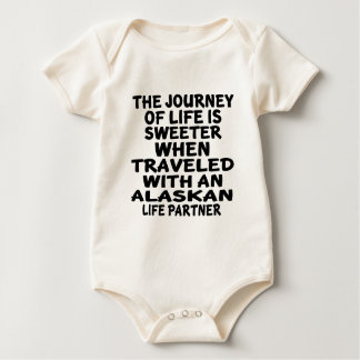 Traveled With A Alaskan Life Partner Baby Bodysuit