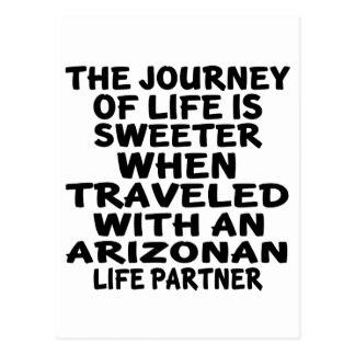 Traveled With A Arizonan Life Partner Postcard