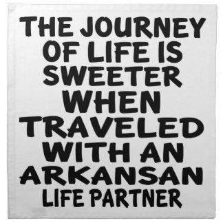 Traveled With A Arkansan Life Partner Napkin