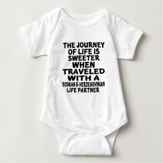 Traveled With A Bosnian & Herzegovinian Life Partn Baby Bodysuit