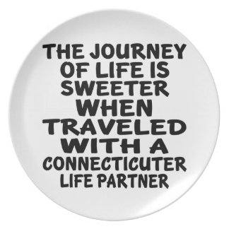 Traveled With A Connecticuter Life Partner Plate