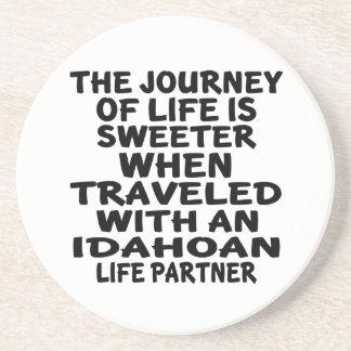 Traveled With A Idahoan Life Partner Coaster